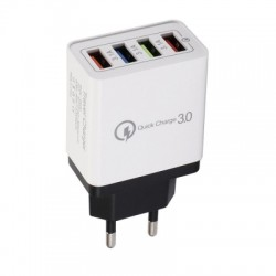 JOFLO  30W 4 Ports USB Quick Charger QC 3.0 Travel USB Fast Charger