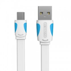Flat USB2.0 A Male to Mini 5 Pin Male Cable