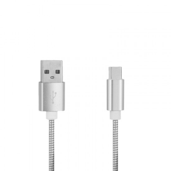 3.4A Stainless Steel Spring Quick Charge Type-C USB 3.1 Charging Cable with High-Speed Data Transmis