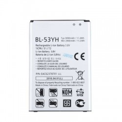 BL - 53YH 3000mAh Replacement Li-ion Battery for LG G3 F400 / F460 / D858 / D830 / VS985 / BL-53YH /