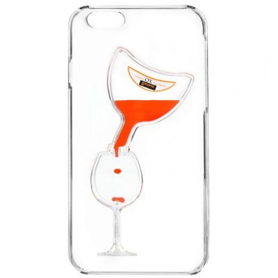 3D Liquid Flow Hourglass Anti-Slip Back Cover Case for iPhone 6 Plus 6S Plus
