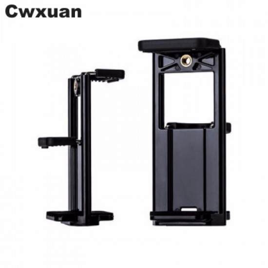 Cwxuan 2 in 1 Universal Tablet PC and Phone Mount Holder Tripod Adapter