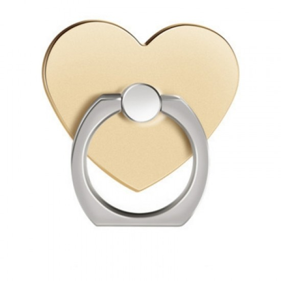 360 Degree Rotating Heart Shape Cell Phone Finger Ring Holder Stand