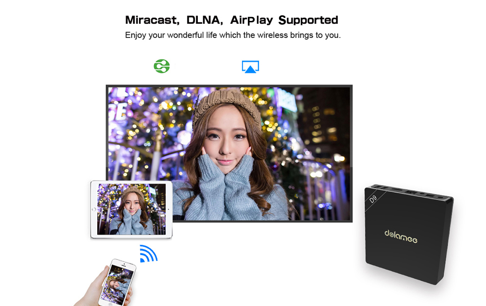 dolamee D9 4K x 2K TV Box with Amlogic S912 Octa-core CPU Android 6.0 with 16.1 64bit